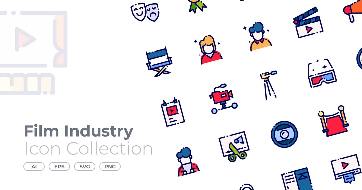 Download Film Industry Filled Icon by GoodWare_Std