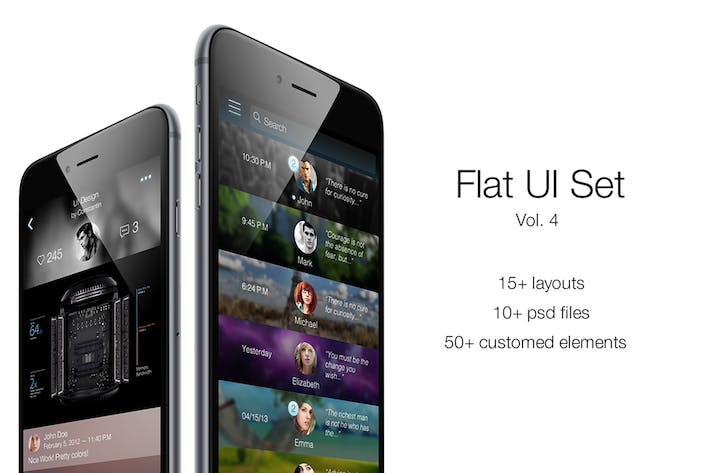 Thumbnail for iOS Flat UI Set Vol. 4