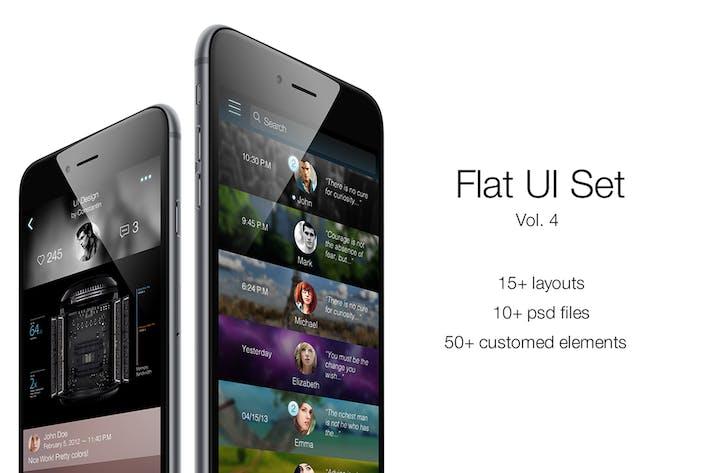 Thumbnail for iOS Flat UI Kit Vol. 4