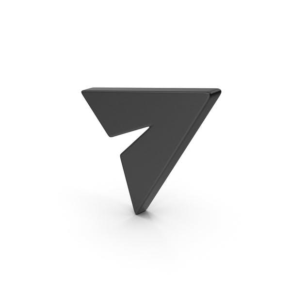 Black Symbol Send Button