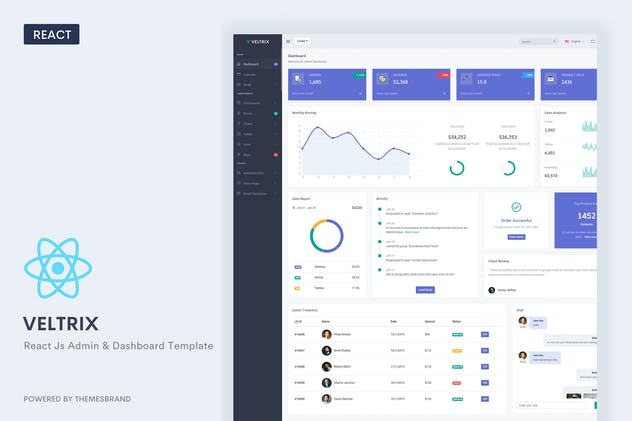 Veltrix - React Js Admin & Dashboard Template
