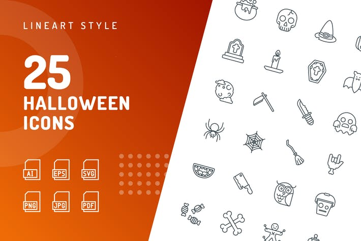 Thumbnail for Halloween Line Icons