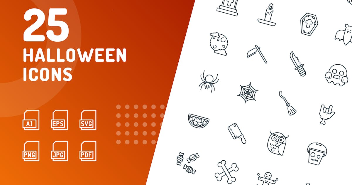 Download Halloween Line Icons by kerismaker