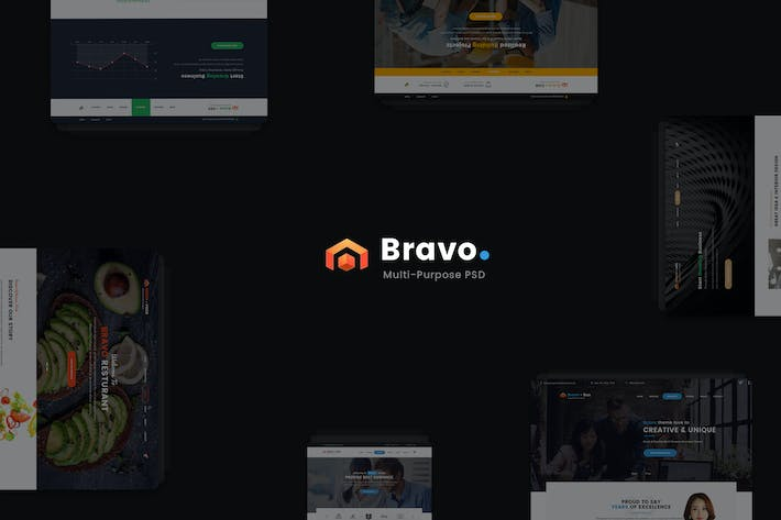 Thumbnail for Bravo - Multi-Purpose PSD Template