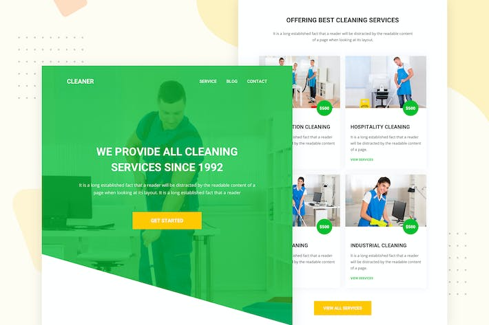 Thumbnail for Cleaning Company - Email Newsletter