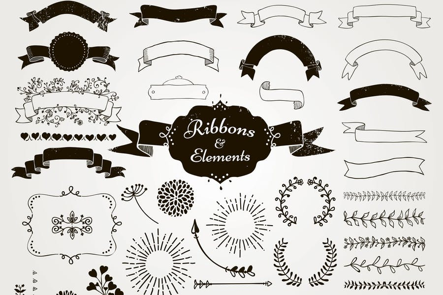 100+ Free Ribbons PSD & Vector Files for your Designs 3