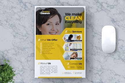 Cleaning Service Flyer Template Vol #02
