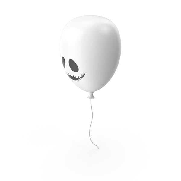 White Halloween Balloon