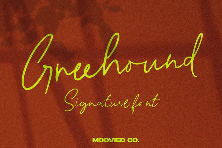 Thumbnail for Greenhound Signature Font