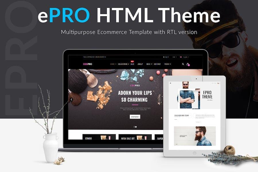 ePro - Multipurpose Ecommerce HTML Theme with RTL