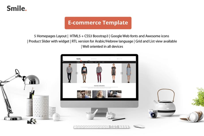 Thumbnail for Smile - HTML E-commerce Bootstrap Template
