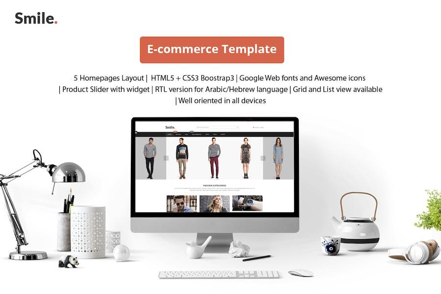 Smile - HTML E-commerce Bootstrap Template