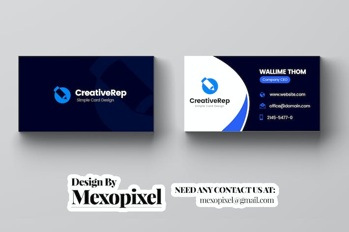 Thumbnail for Creative Business Card Template