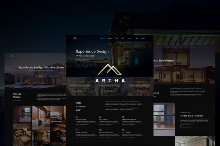 Thumbnail for Artha Interactive Interior html Template