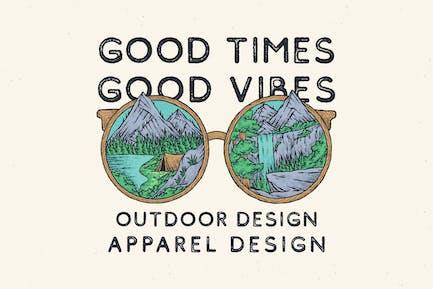 vintage design of wild nature glasses