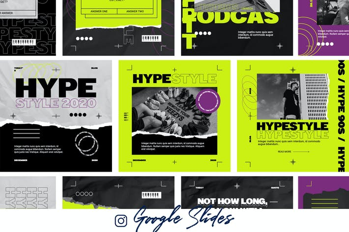 Hype 90s - Google Instagram Template