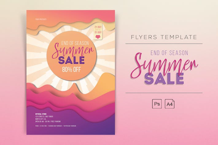 Thumbnail for End of Season Summer Sale Flyer
