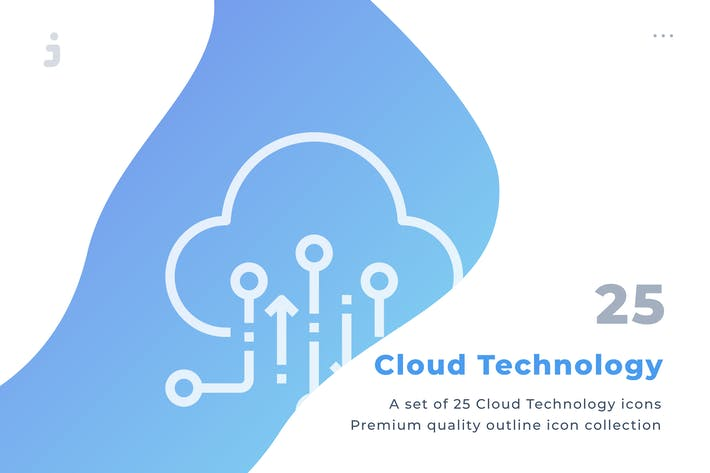 25 Cloud Technology icon set