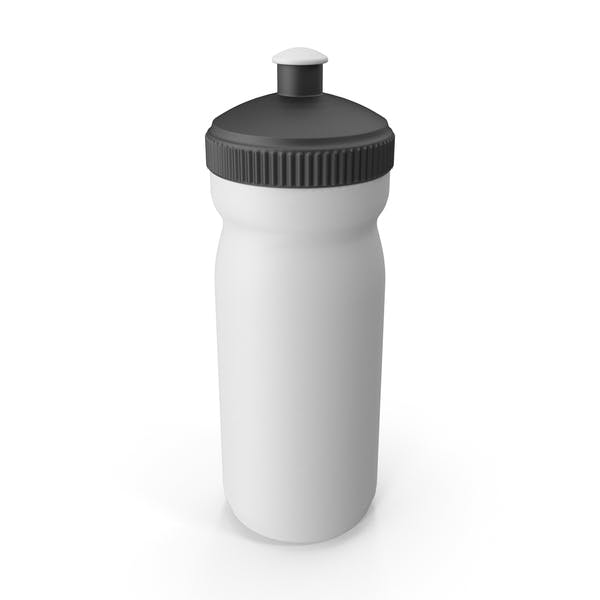 White Sport Bottle with Black Cap