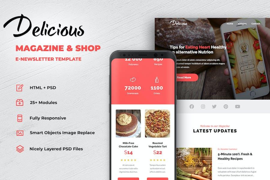 Delicious - Magazine & Shop E-Newsletter Modèle