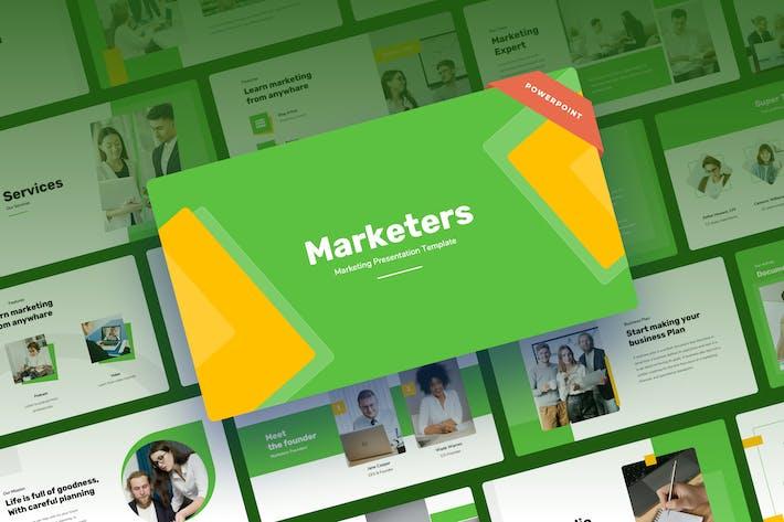 Marketers - Marketing Power Point Presentation