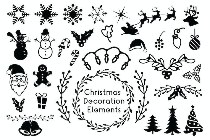 Thumbnail for Новогодние украшения Элементы - Рождественские клипарты