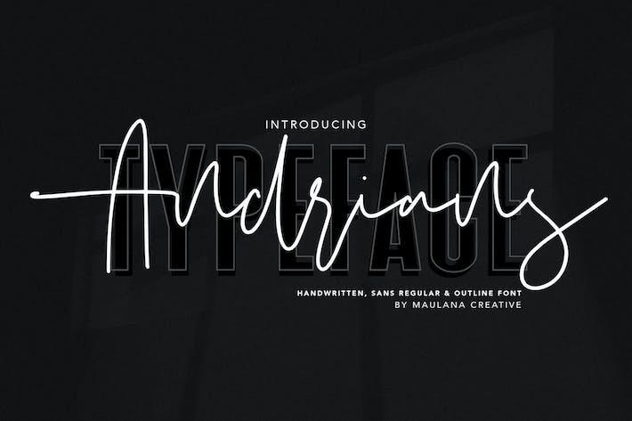 Thumbnail for Andrians Script Sans Font