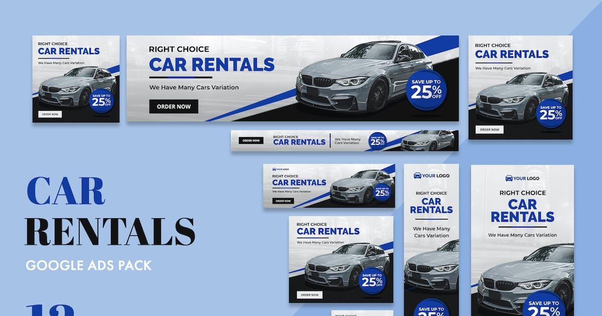 Google Ads Web Banner Car Rental By Uicreativenet On Envato Elements