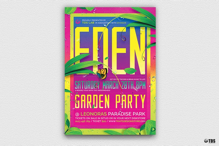 Thumbnail for Garden Party Flyer Template