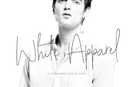 Fuente de firma White Apparel
