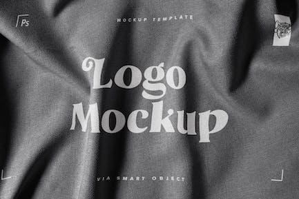 Close-Up Fabric Print Logo Mockup
