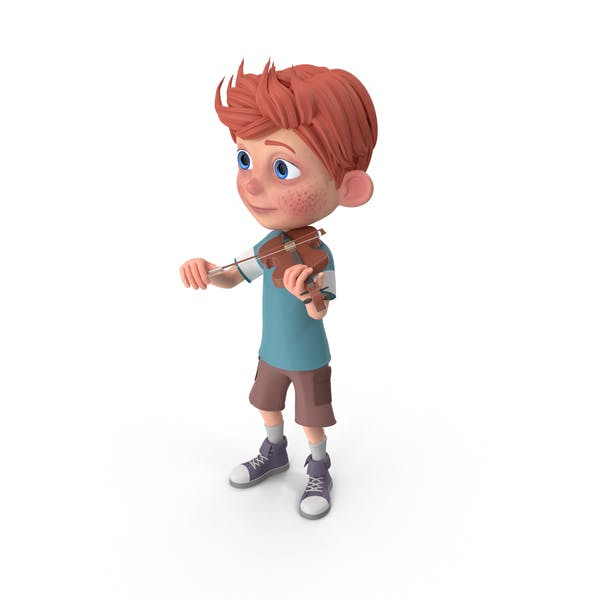 Cover Image for Cartoon Boy Charlie Playing Violin