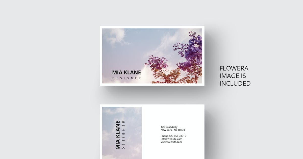 Download Business card with flower design in vintage style by Unknow