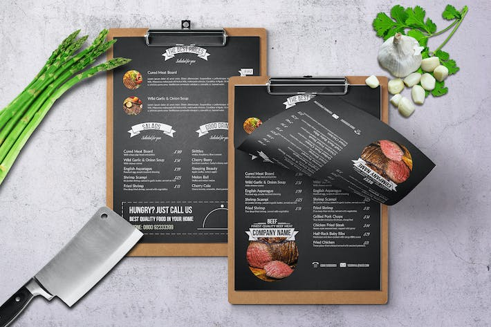 Cover Image For Chef's Restaurant Menu - A4 & US Letter