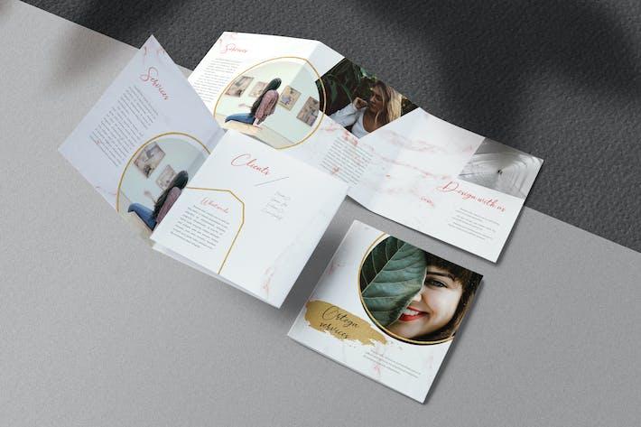Thumbnail for Gold Brush Square Trifold Brochure