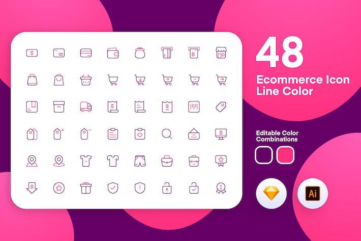 Thumbnail for eComerce Icon Line Color