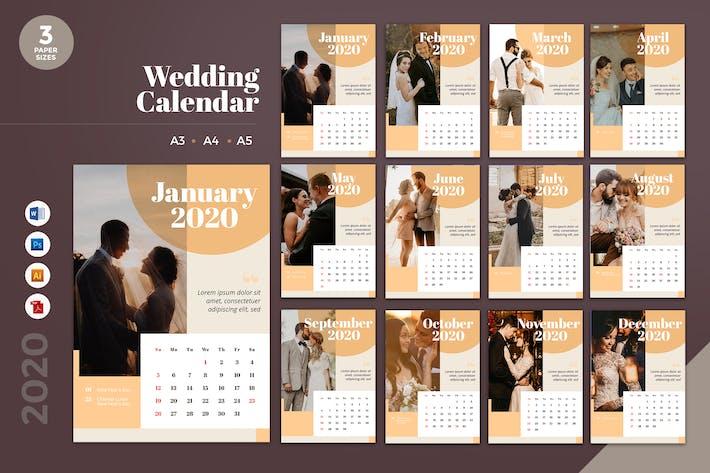 Thumbnail for Wedding Calendar 2020 Calendar - AI, DOC, PSD