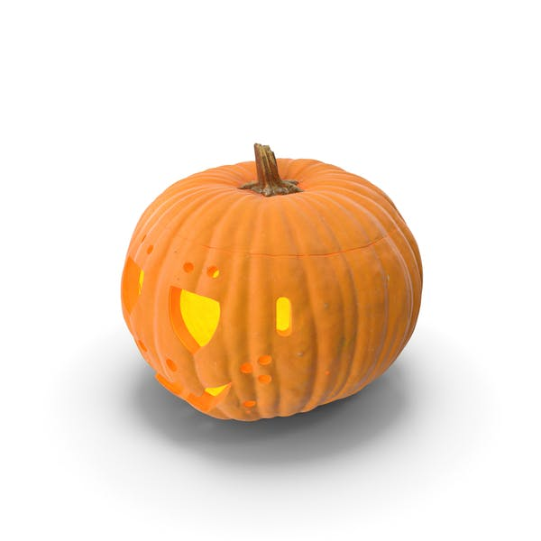 Thumbnail for Jack o Lantern Pumpkin with Carved Face