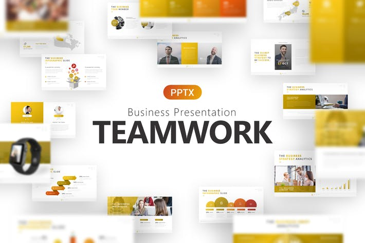 Thumbnail for Teamwork Business Presentation Template