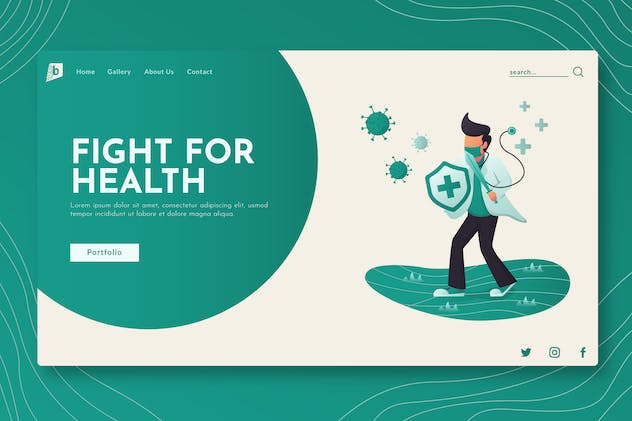 Fight For Health - Landing Page GR