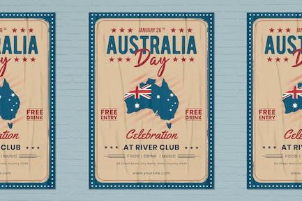 Australia Day Flyer Template