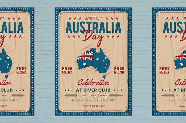 Australia Day Flyer Template