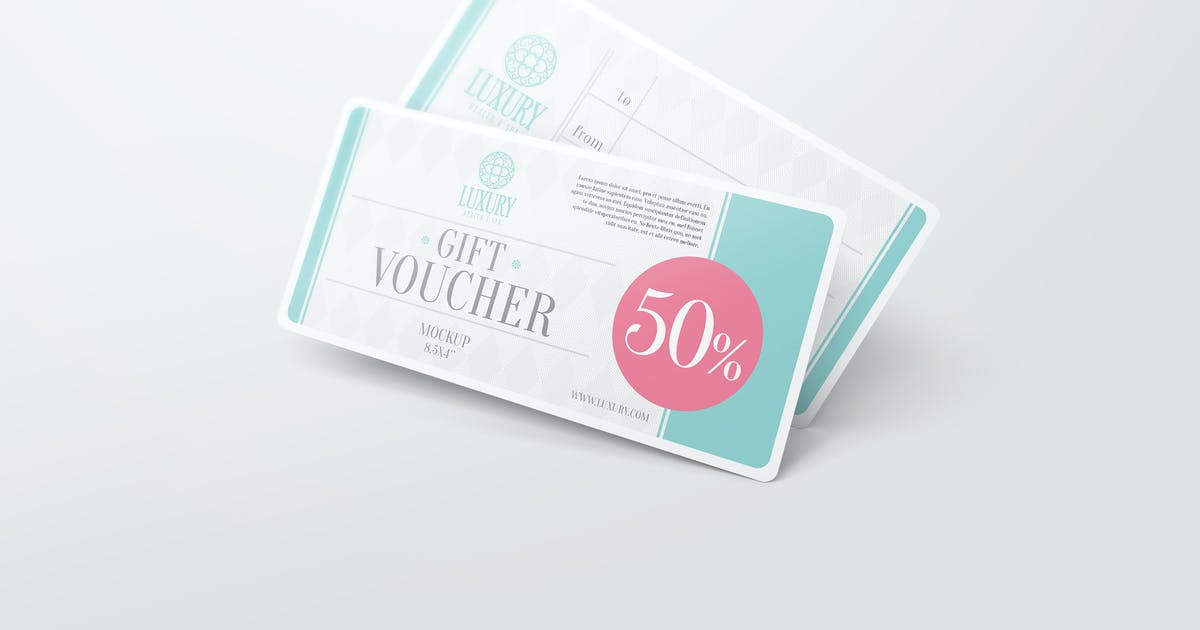 Download Gift Voucher Mockups by StreetD