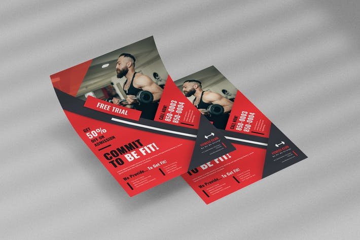 Thumbnail for Gym Fitness Flyer Template