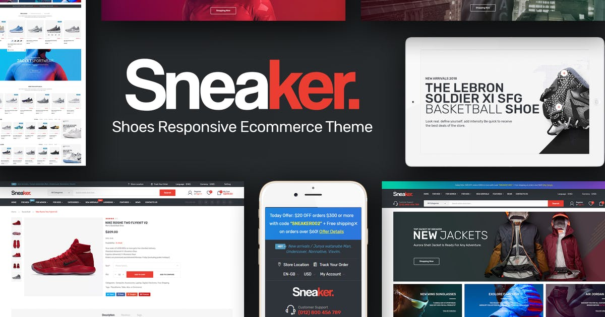 Download Sneaker - Shoes Theme for WordPress by Plaza-Themes