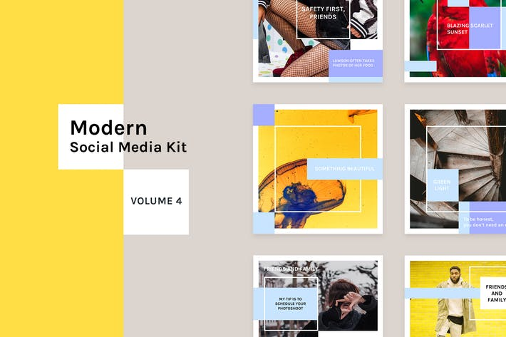 Thumbnail for Modern Social Media Kit (Vol. 4)