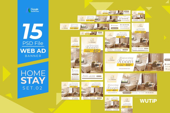 Thumbnail for Web Ad Banners - Homestay 02