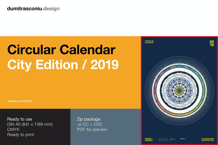 Thumbnail for Circular Calendar 2019 - City Edition