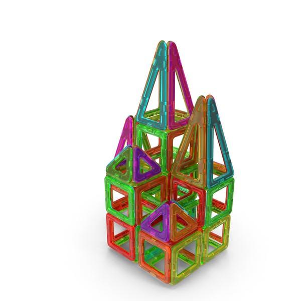 Magnetisches Designer Spielzeughaus