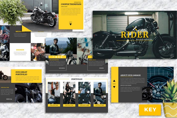 Rider – Motorbike Service Keynote Template